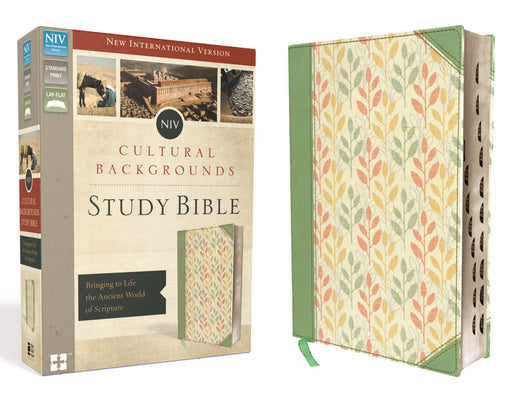 NIV, Cultural Backgrounds Study Bible, Leathersoft, Green, Indexed, Red Letter Edition