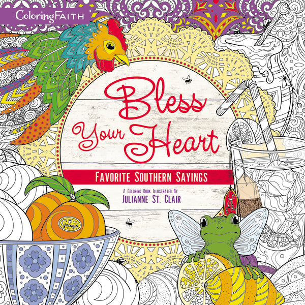 Bless Your Heart Adult Coloring Book