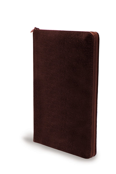 NIV, Thinline Zippered Collection Bible, Large Print, Bonded Leather, Burgundy, Red Letter Edition