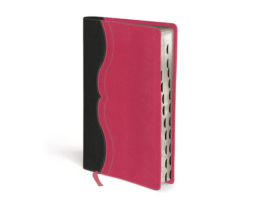 NIV Study Bible, Personal Size, Leathersoft, Gray/Pink, Red Letter Edition, Thumb Indexed