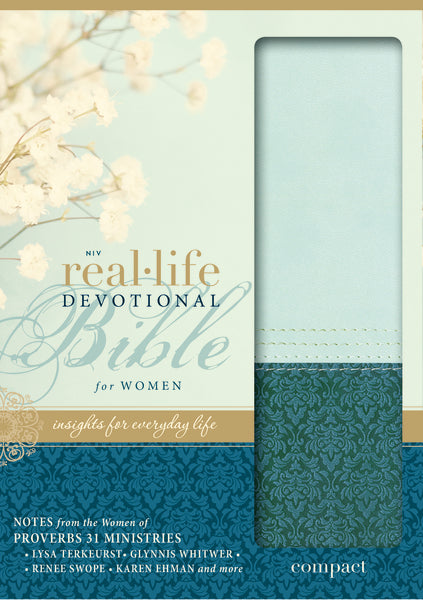 NIV, Real-Life Devotional Bible for Women, Compact, Leathersoft, Teal