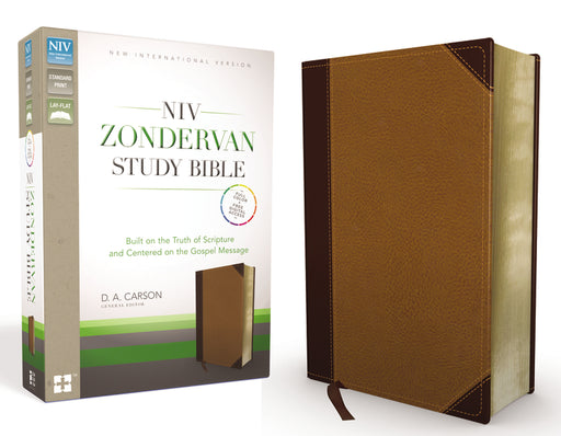 NIV Zondervan Study Bible, Leathersoft, Tan/Brown