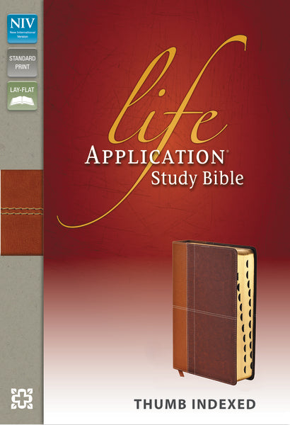 NIV, Life Application Study Bible, Leathersoft, Tan/Brown, Indexed, Red Letter Edition