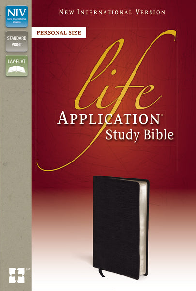 NIV, Life Application Study Bible, Personal Size, Bonded Leather, Black