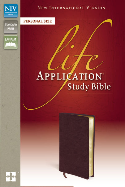 NIV, Life Application Study Bible, Second Edition, Personal Size, Bonded Leather, Burgundy, Red Letter Edition