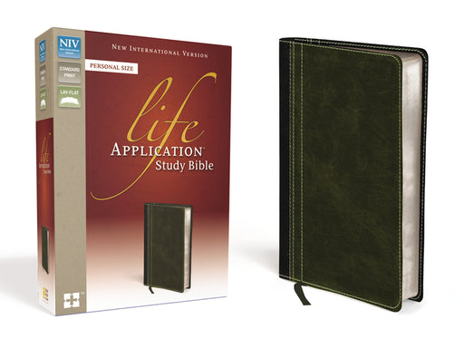 NIV, Life Application Study Bible, Personal Size, Leathersoft, Brown/Green