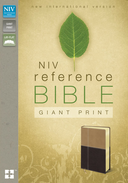 NIV, Reference Bible, Giant Print, Leathersoft, Tan/Brown