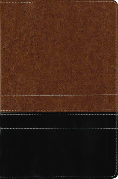 NIV, Giant Print Compact Bible, Giant Print, Leathersoft, Brown/Black
