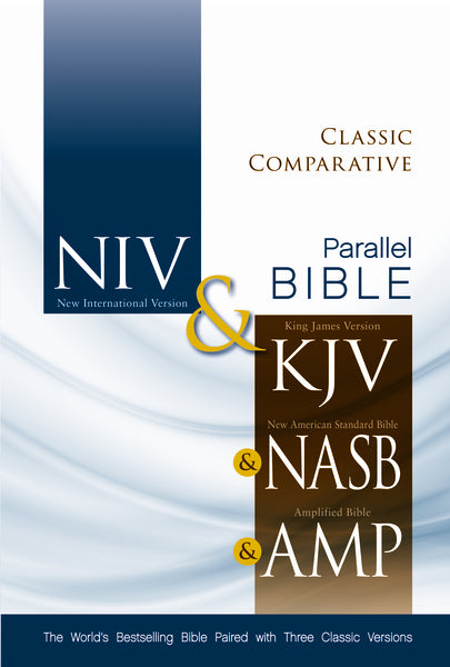 NIV, KJV, NASB, Amplified, Classic Comparative Parallel Bible, Hardcover
