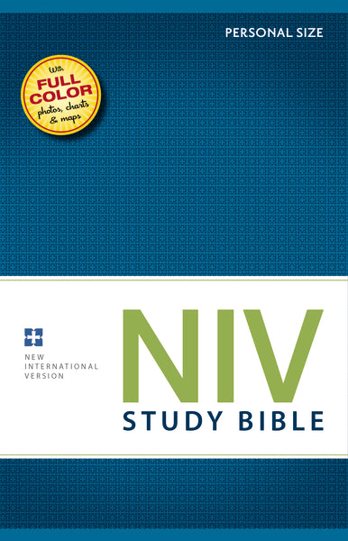 NIV Study Bible, Personal Size, Hardcover, Red Letter Edition