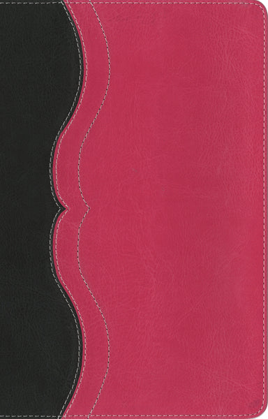NIV Study Bible, Personal Size, Leathersoft, Gray/Pink, Red Letter Edition
