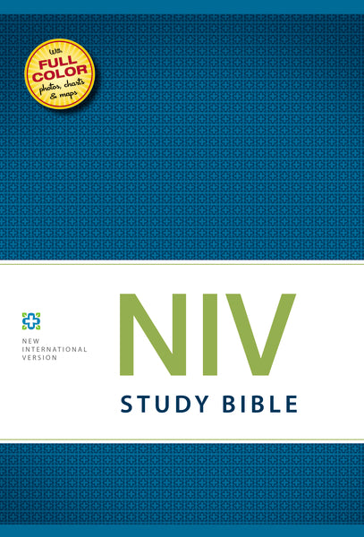NIV Study Bible, Hardcover, Red Letter Edition