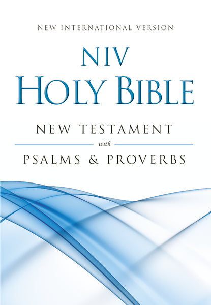 NIV, Holy Bible New Testament with Psalms and   Proverbs, Pocket-Sized, Paperback, Blue