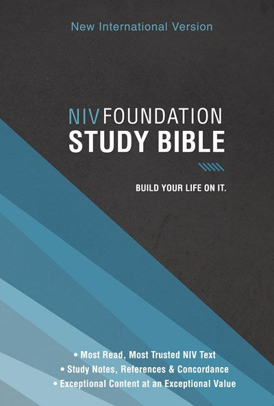 NIV, Foundation Study Bible, Hardcover, Red Letter Edition