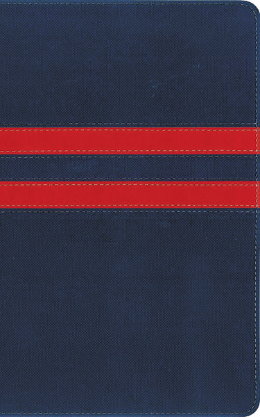 NIV, College Devotional Bible, Leathersoft, Navy/Red