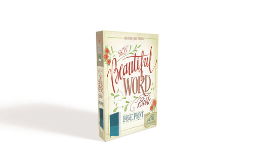 NKJV, Beautiful Word Bible, Large Print, Leathersoft, Blue, Red Letter Edition