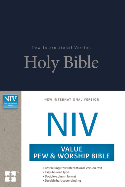NIV, Value Pew and Worship Bible, Hardcover, Blue