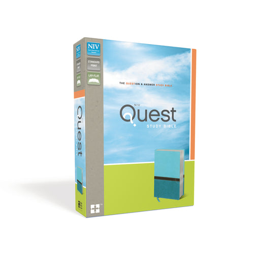 NIV, Quest Study Bible, Leathersoft, Teal, Indexed