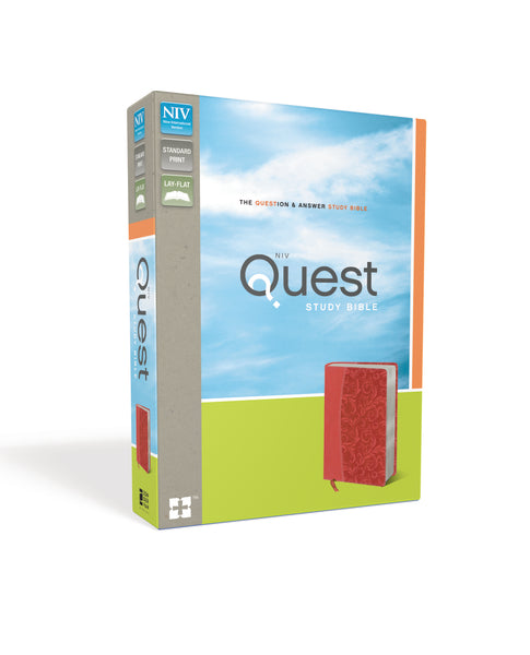 NIV, Quest Study Bible, Leathersoft, Coral, Indexed