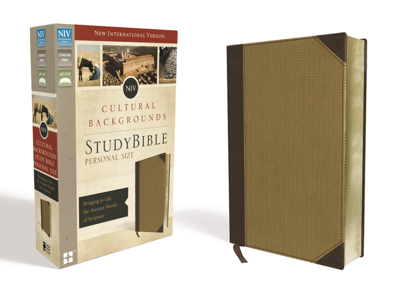 NIV, Cultural Backgrounds Study Bible, Personal Size, Leathersoft, Tan, Red Letter Edition