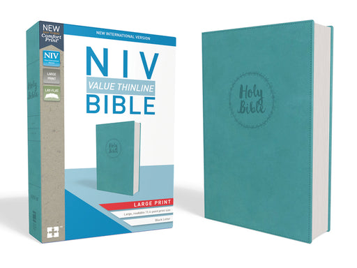 NIV, Value Thinline Bible, Large Print, Leathersoft, Blue, Comfort Print