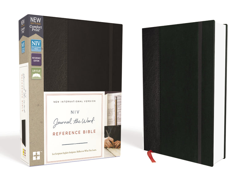 NIV, Journal the Word Reference Bible, Hardcover, Black, Red Letter Edition, Comfort Print