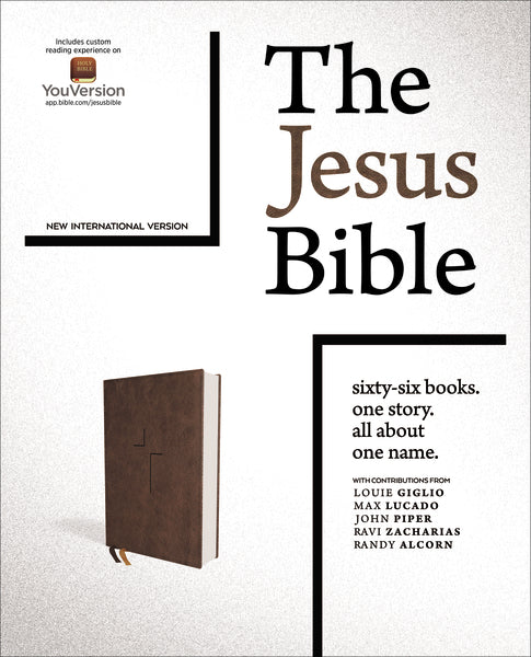 The Jesus Bible, NIV Edition, Leathersoft, Brown, Thumb Indexed, Comfort Print