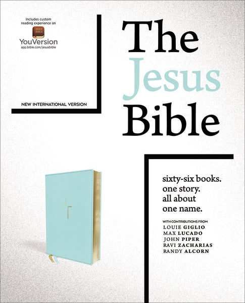 The Jesus Bible, NIV Edition, Leathersoft, Blue, Thumb Indexed, Comfort Print