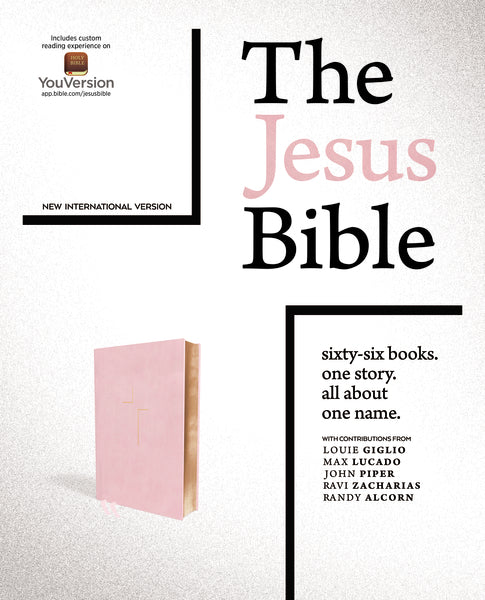 The Jesus Bible, NIV Edition, Leathersoft over Board, Pink, Thumb Indexed, Comfort Print