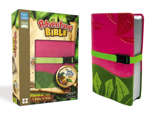 NIV, Adventure Bible, Leathersoft, Pink/Green, Full Color