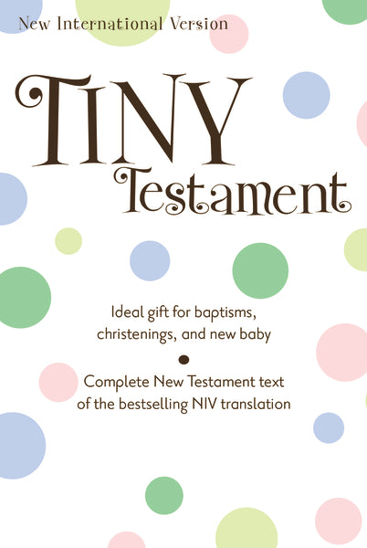 NIV, Tiny Testament Bible: New Testament, Leathersoft, White