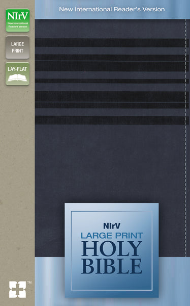 NIrV, Holy Bible, Large Print, Leathersoft, Blue