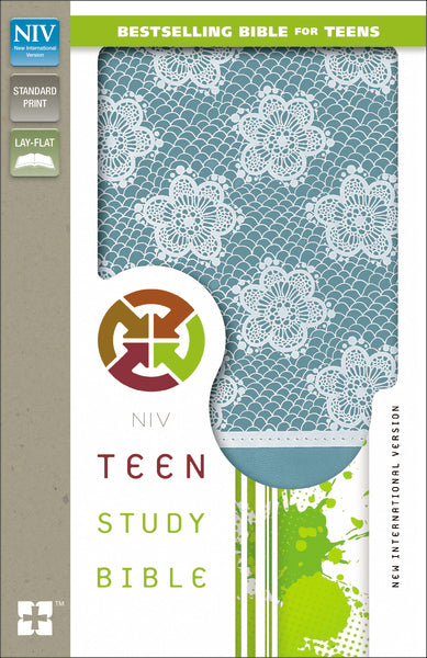 NIV, Teen Study Bible, Leathersoft, Blue