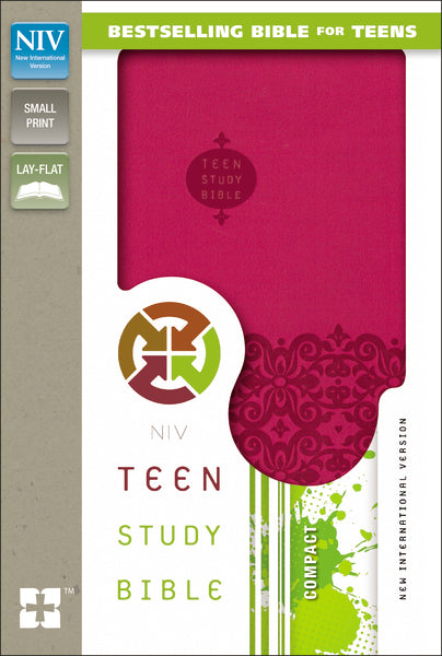 NIV, Teen Study Bible, Compact, Leathersoft, Pink