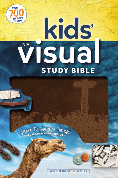 NIV, Kids' Visual Study Bible, Leathersoft,  Bronze, Full Color Interior