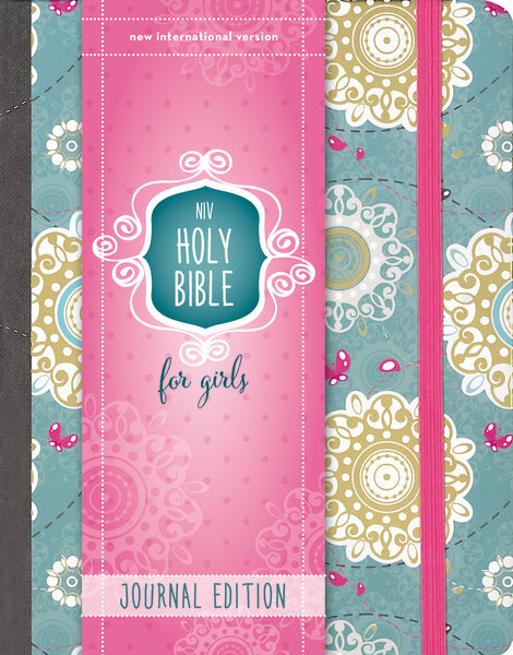 NIV, Holy Bible for Girls, Journal Edition, Hardcover, Turquoise, Elastic Closure