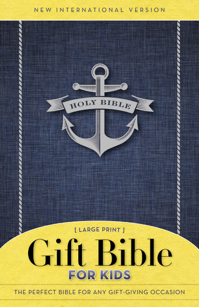 NIV, Gift Bible for Kids, Paperback, Large Print, Blue