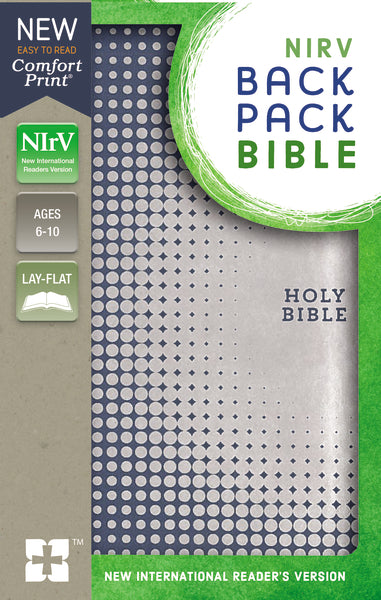 NIrV, Backpack Bible, Leathersoft, Blue/Silver