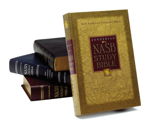 NASB, Zondervan NASB Study Bible, Bonded Leather, Black, Red Letter Edition