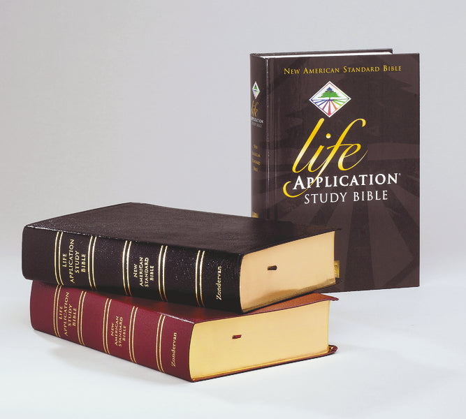 NASB, Life Application Study Bible, Second Edition, Bonded Leather, Black, Thumb Indexed