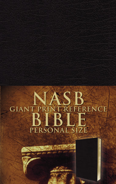 NASB, Reference Bible, Giant Print, Personal Size, Imitation Leather, Black, Red Letter Edition