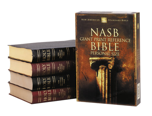 NASB, Reference Bible, Giant Print, Personal Size, Leather-Look, Black, Thumb Indexed