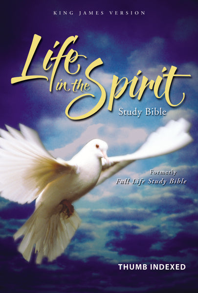 KJV, Life in the Spirit Study Bible, Bonded Leather, Black, Indexed, Red Letter Edition