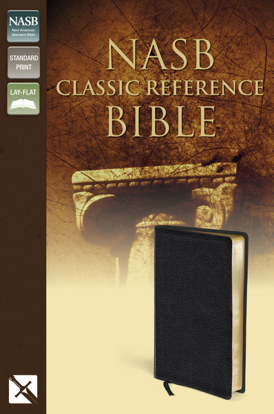 NASB, Classic Reference Bible, Bonded Leather, Black, Red Letter Edition
