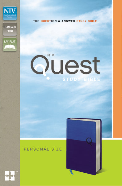 NIV, Quest Study Bible, Personal Size, Leathersoft, Blue