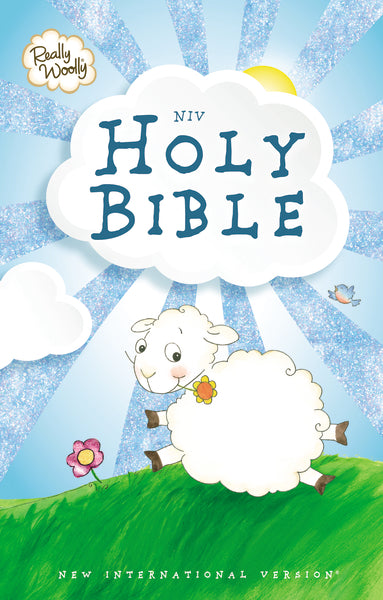 NIV, Really Woolly Bible, Hardcover, Blue