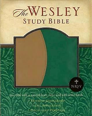 NRSV Wesley Study Bible - Green/Brown Faux Leather Edition