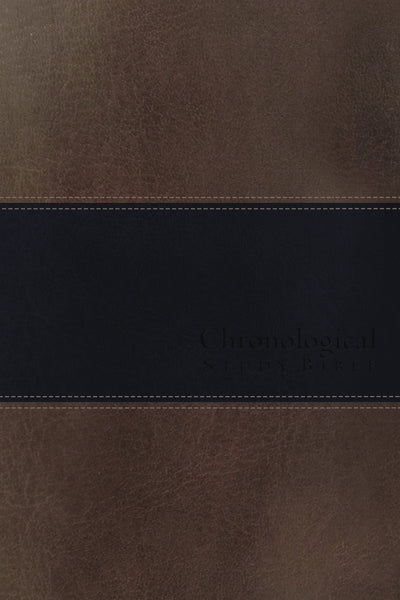 NIV, Chronological Study Bible, Leathersoft, Brown/Navy