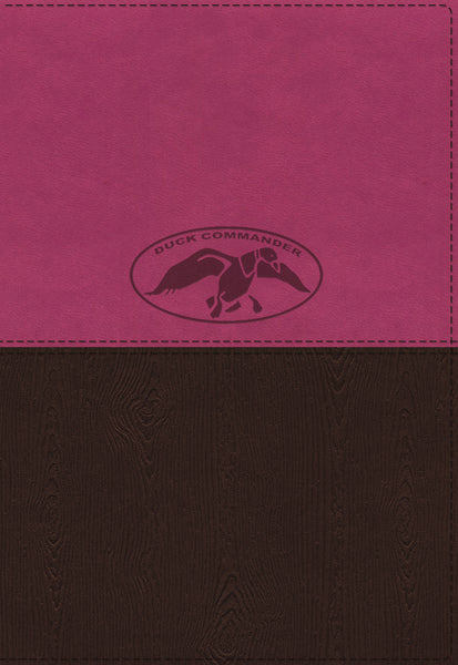NKJV, Duck Commander Faith and Family Bible, Leathersoft, Pink/Brown