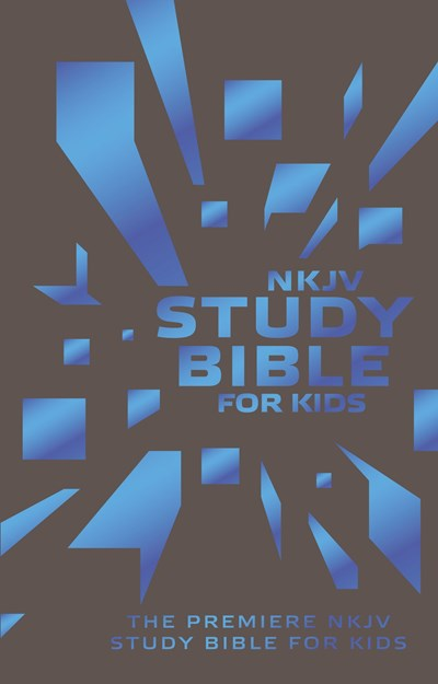 NKJV, Study Bible for Kids, Leatherflex, Grey/Blue